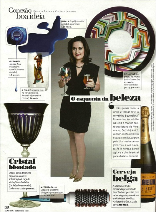 Revista Claudia - Setembro/11 O esquenta da Beleza