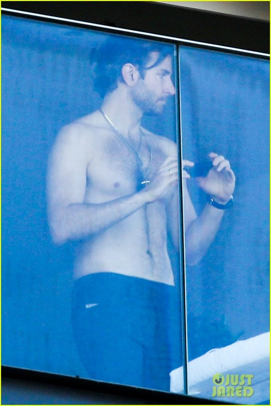 *EXCLUSIVE* Shirtless Bradley Cooper enjoys the view in Rio de Janeiro